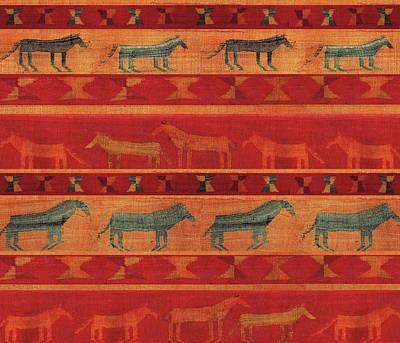 Digital Art - Wild Gypsy Mustangs by Vagabond Folk Art - Virginia Vivier