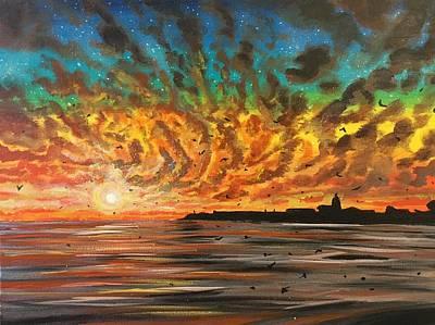 Painting - Wild Hearted Sun - Santa Cruz by Joel Tesch