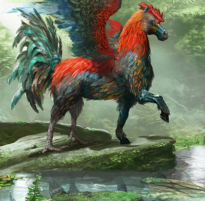 Pegasus Digital Art - Wild Hippalektryon by Ryan Barger