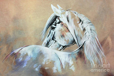 Horse Painting - Wild Horse 03 by Gull G