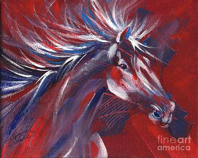 Painting - Wild Horse Bust by Summer Celeste