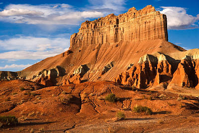 Goblin Valley State Park Photograph - Wild Horse Butte by Utah Images