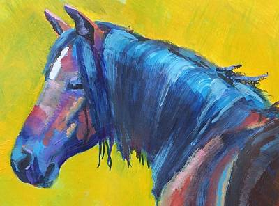 Painting - Wild Horse Head by Mike Jory