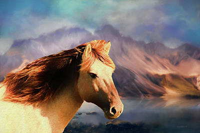 Photograph - Wild Horse - Painting by Ericamaxine Price