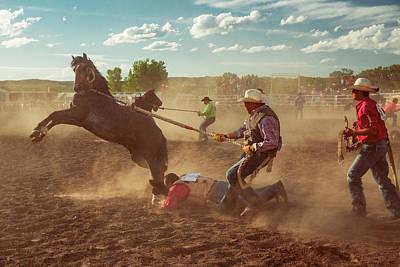 Wild Horse Race Art Print