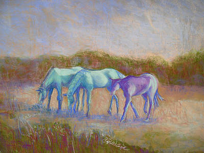 Pastel - Wild Horses by Carole Haslock