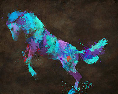 Paint Horse Digital Art - Wild Horses Couldn't Drag Me Away From You by Nikki Marie Smith