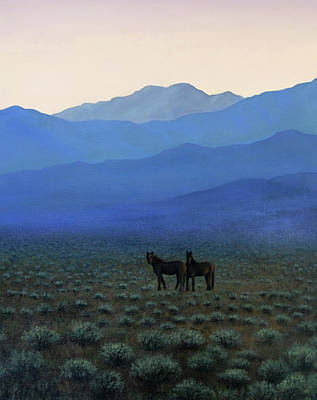 Painting - Wild Horses by David Martorelli