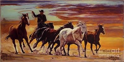Painting - Wild Horses by Ekaterina Stoyanova