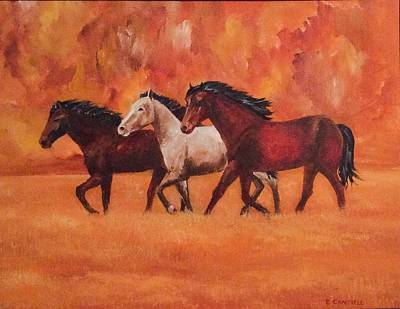 Painting - Wild Horses by Ellen Canfield