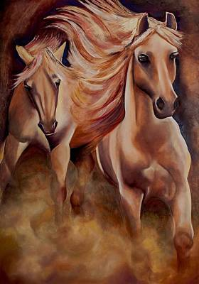 Painting - Wild Horses by Jenny anne Morrison