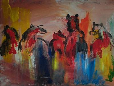 Painting - Wild Horses by Ken Pridgeon