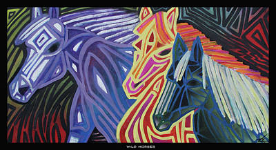 Painting - Wild Horses by Larry Rice