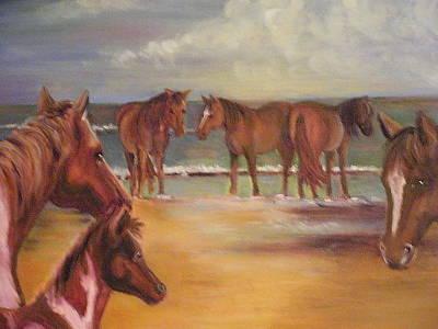 Painting - Wild Horses by Pauline  Kretler