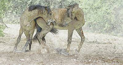 Photograph - Wild Horses Photo Art 0958-082815 by Tam Ryan
