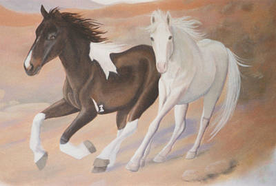Painting - Wild Horses by Suzn Art Memorial