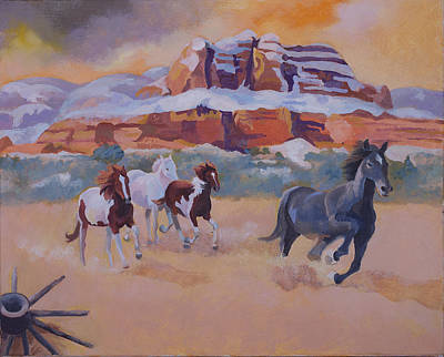Painting - Wild Horses by Susan McNally