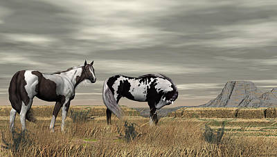 Digital Art - Wild Horses by Walter Colvin