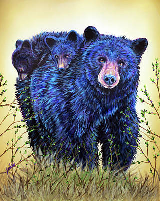 Painting - Wild Hucklebearies by Teshia Art