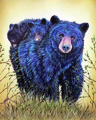 Painting - Wild Hucklebearies by Teshia Art