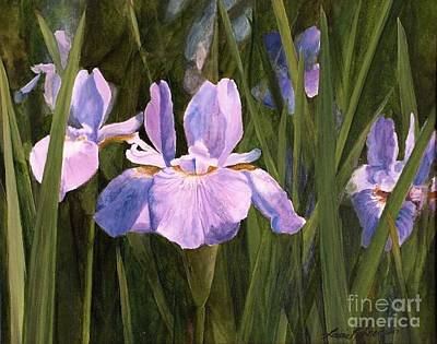 Painting - Wild Iris by Laurie Rohner