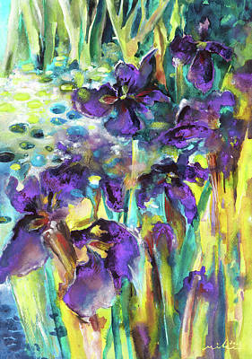 Painting - Wild Iris by Miki De Goodaboom