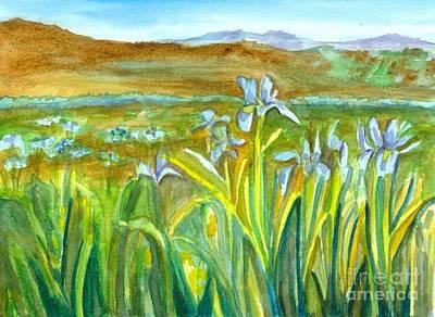 Painting - Wild Iris Mountain Meadow by Cathie Richardson