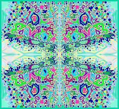 Digital Art - Wild Island Creation 1 Fractal A by Julia Woodman