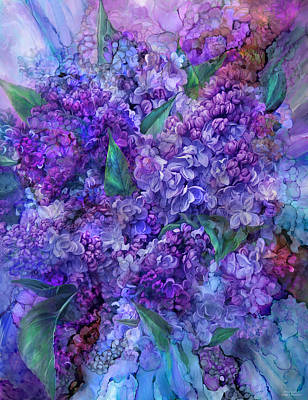 Mixed Media - Wild Lilacs by Carol Cavalaris