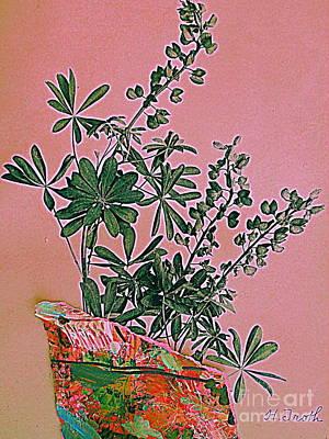 Digital Art - Wild Lupine In Pink by Nancy Kane Chapman