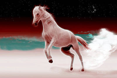 Digital Art - Wild Mare by Ericamaxine Price