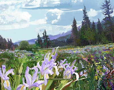 Wild Meadow Art Print by Brad Burns