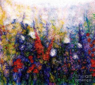 Wall Art - Mixed Media - Wild Meadow Flowers by Claire Bull