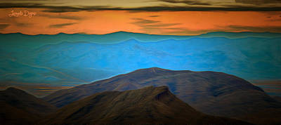 Arizona Painting - Wild Mountains - Pa by Leonardo Digenio