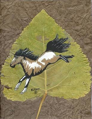 Painting - Wild Mustang #3 by Ralph Root