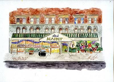 Painting - Wild Olive Market East Harlem by Afinelyne