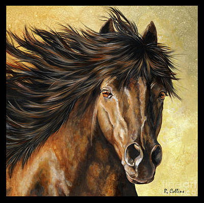 Morgan Horse Painting - Wild One by Rose Collins