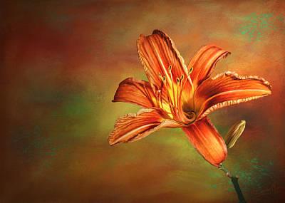Wild Orange Lily Original