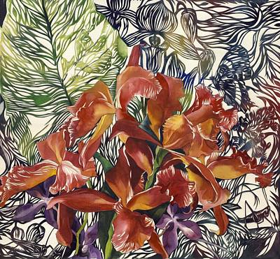 Grasshopper Mixed Media - Wild Orchid by Alfred Ng
