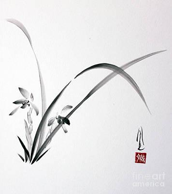 Painting - Wild Orchid by Fumiyo Yoshikawa