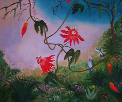 Painting - Wild Orchids by Alanna Hug-McAnnally