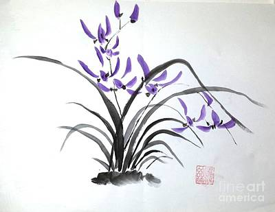 Painting - Wild Orchids by Margaret Welsh Willowsilk