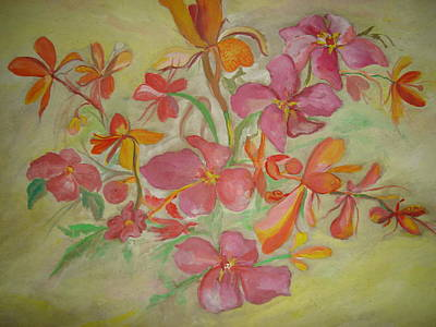 Painting - Wild Orchids by Seema Sharma