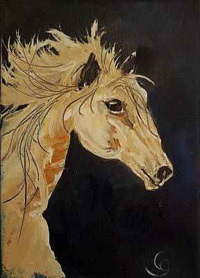 Painting - Wild Palomino                  7 by Cheryl Nancy Ann Gordon