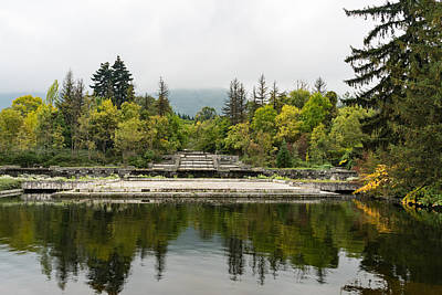 Overruns Photograph - Wild Park Cascade - Autumn Arriving Softly by Georgia Mizuleva