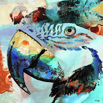 Painting - Wild Parrot Art By Sharon Cummings by Sharon Cummings