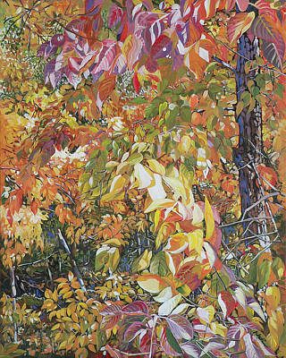 Persimmon Painting - Wild Persimmon 4 by Nadi Spencer