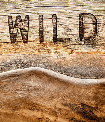 Wood Carving Photograph - Wild by Jacky Gerritsen