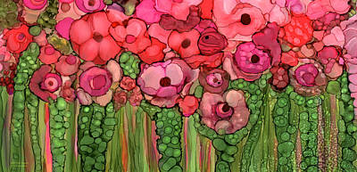 Mixed Media - Wild Pink Poppies by Carol Cavalaris
