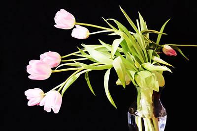 Wild Pink Tulips Art Print